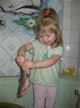 Вот какую рыбу я поймала!