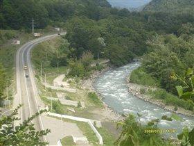 Дорога повторяет форму реки