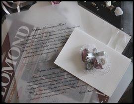 Свадебная пригласительная открытка, Хэнд мэйд