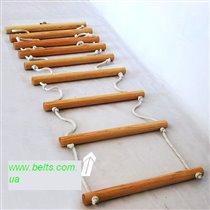 Лестница верёвочная длинная для спорткомплекса