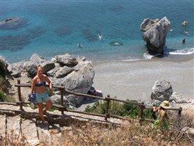 Крит, пляж Превелли (Палм бич)