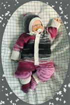 Вязаный комплект для новорожденных Батик