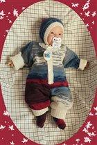 Вязаный костюм для новорожденных Батик.