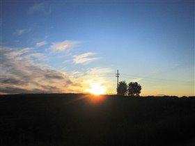 Закат в деревушке