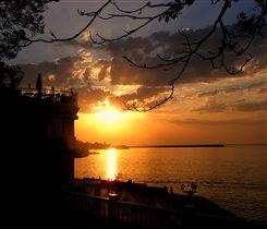 закат над черным морем...