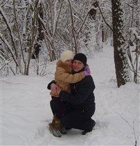 САМЫЕ РОДНЫЕ!!!! Первый день Нового года...В лесу.