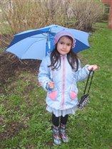 модный яркий зонтик