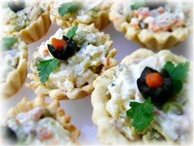 Сырные тарталетки-вкусные тарелочки для салата!;)