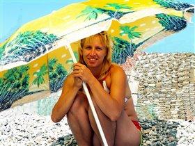 Зонтик от солнца и дождя))