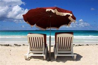 Зонтик на берегу