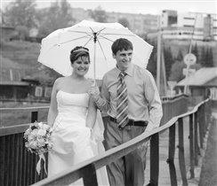 один зонт на двоих