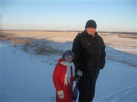 зимняя прогулка на горку
