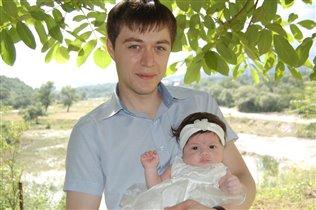 принцесса Амелия с папой