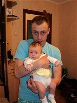 Юленька с папой