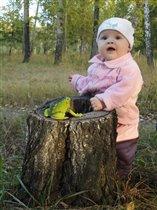 'Мама,смотри какая лягушка!'