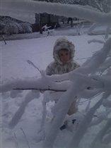первый снег пришел в январе