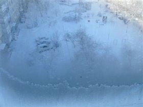 Зима из окошка