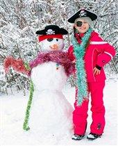 Мы со снеговиком - пираты!