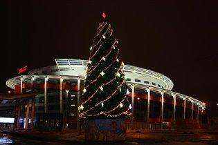 Новогодняя елка на Ходынском поле у МЕГАСПОРТА