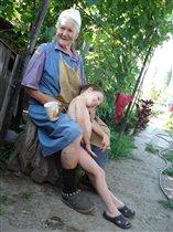 Прабабушка с правнучком