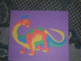 Динозаврик-паззл резиновый