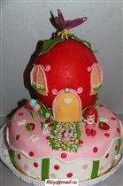 Торт Принцесса клубничка