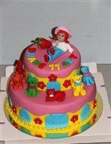 Торт 'Принцесса клубничка'