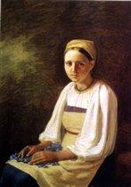 А.Венецианов. Крестьянка с васильками