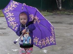 Дождик мне нипочём с бабушкиным зонтиком:)
