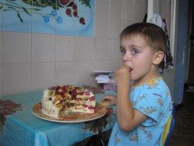 Вот такой вкусный пирог получился у нас с мамой!