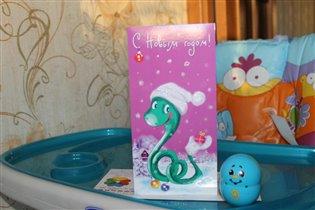 Новогодняя открыточка от Ирины(ГерберА)!
