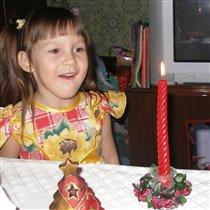 Волшебство новогодней свечи!