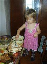 Первый Полинын тортик