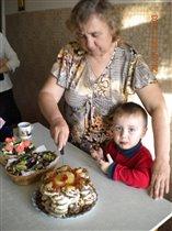 Любимой бабушке торт из пряников!