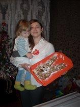 Торт 'Новогодний зайчик'