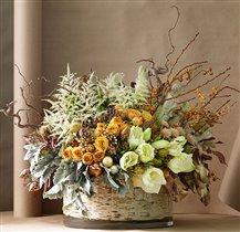 Цветочные композиции с сухоцветами для декора дома