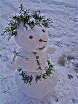 Вот такой наш снеговик