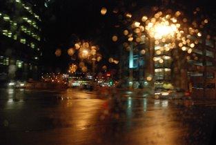 ночной дождливый Сиэтл