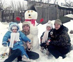 Была работа не легка, слепили мы снеговика!