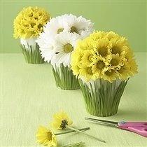 Красивые букеты в цветочных горшках своими руками