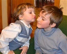 Братик, дай ка я тебя поцалую))))))))))))))