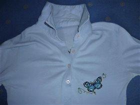 блузка с вышивкой бабочки