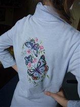 бабочки на блузке сзади