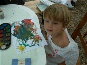 Мой первый рисунок красками
