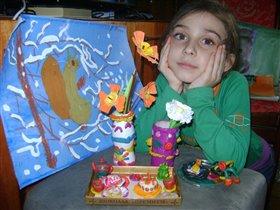 Моя дочь очень любит рисовать и лепить!
