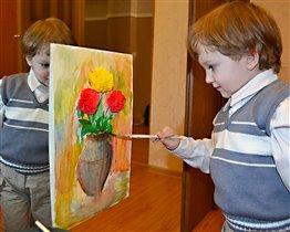 Маленький художник!