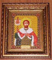 Икона Св. Александр Невский (бисер)