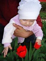 Первые цветочки в жизни Лизочки