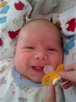 Первая улыбка!!!