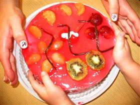 Самый вкусный торт. конечно же полосатый!